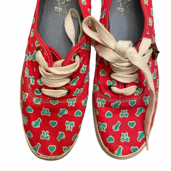 Womens 5.5 Taylor Swift Keds Canvas Sneakers Pink